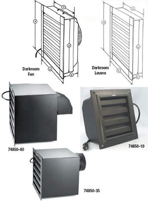 Darkroom Exhaust Fans And Louvers