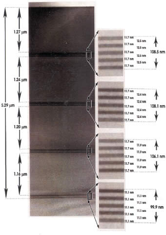 Magnification Calibration Sample for Transmission Electron Microscopes